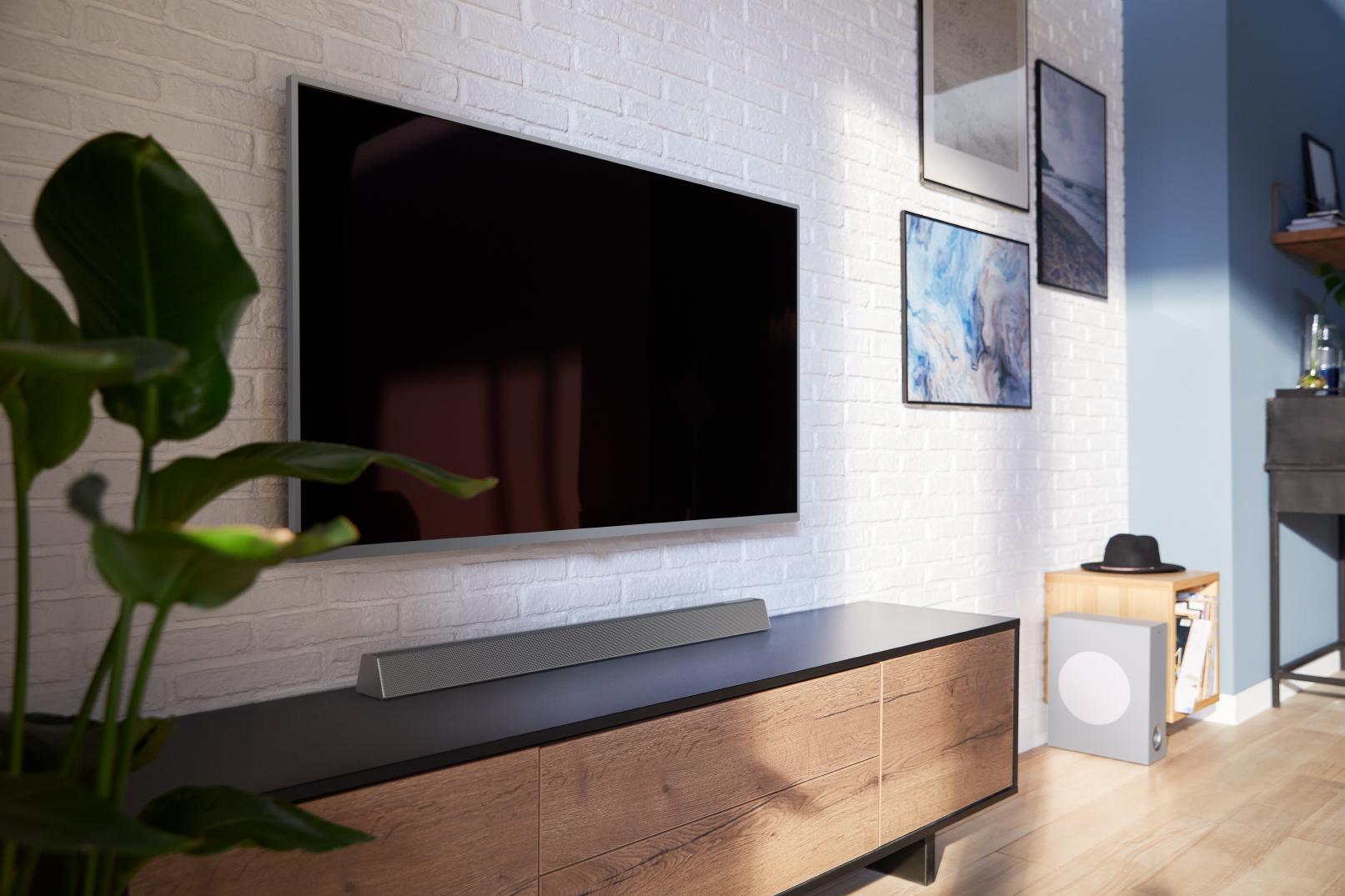 Soundbar je jednodijelni ili dvodijelni sustav koji djeluje kao zvučnici za vašu 4K televiziju